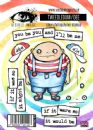 Visible Image Clear Stamp Set - Wonderland - Tweedledum / Tweedledee